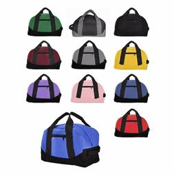 "DALIX 12"" Small Duffle Bag Gym Mini Travel Overnight Bag Bla"