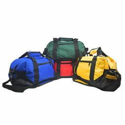 "14"" Two Tone Duffle Duffel Bag Bags Travel Sport Gym Carry O"