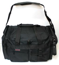 "17"" Black SWAT Police Duffle Duty Bag Gun Hunting Carry On L"