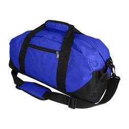 "DALIX 18"" Two Toned Gym Duffle Bag Travel Yoga Medium Royal"