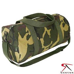 19 Inch Camouflage Canvas Shoulder Duffle Bag - Rothco Woodl
