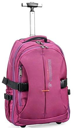 """19"""" Wheeled Backpack, Rolling Carry-on Luggage Travel Duff"""