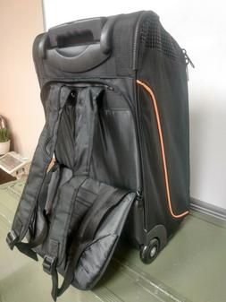 """20"""" Rolling Wheeled Travel Bag / Backpack Carry On Suitcase"""