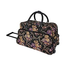 World Traveler 21-Inch Carry-On Rolling Duffel Bag, Classic