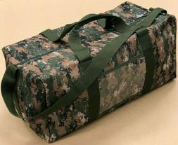"21"" Large Tactical Range Hunting Military Duffle Bag in Wood"