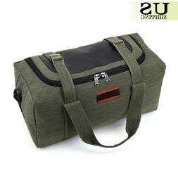"22"" Military Canvas Leather Gym Duffle Shoulder Bag Travel L"