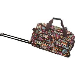"Rockland Luggage 22"" Rolling Duffle Bag 33 Colors Softside C"