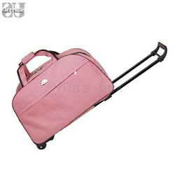 """24"""" Large Rolling Wheeled Duffle Bag Briefcase Travel Suitca"""