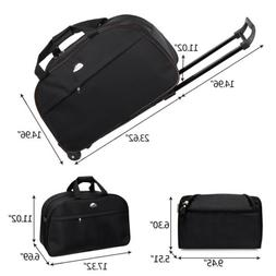 "24"" Rolling Duffle Bag Trolley Wheeled Travel Carry on Lugga"