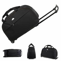 "24"" Rolling Tote Duffle Bag Wheeled Carry On Luggage Waterpr"