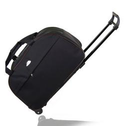 """24"""" Rolling Wheeled Tote Duffle Bag Carry On Luggage Trolley"""