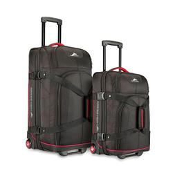 High Sierra 2PC Duffel Set Large Travel Wheeled Day Bag Wome