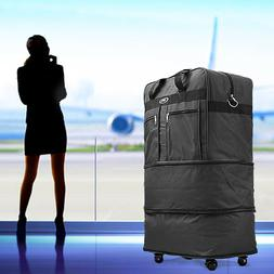 """30"""" Rolling Wheeled Duffel Bag Spinner Suitcase Luggage Expa"""