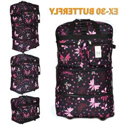 """30"""" Expandable Spinner Suitcase Luggage Wheeled Duffel Rolli"""