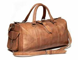 Leather Overnight Bag Travel Duffle Gym Men Weekend Vintage