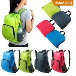 30L SPORTS BOOKBAG Camping Travel Folding Backpack Duffle Gy