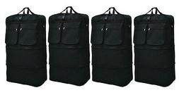"""4-Pack 36"""" Black Rolling Wheeled Duffle Expandable Bag Spinn"""