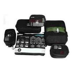 Rockland 6 Piece Smartpack Luggage Packing Cubes, Black