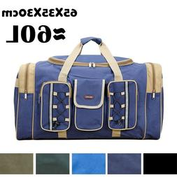 60L Big Capacity Oxford Duffle Bag Outdoor Travel Luggage Pa