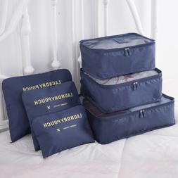 6PCS/Set Luggage Packing Organizer Set <font><b>Travel</b></