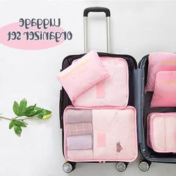 6PCS/Set Luggage Packing Organizer Set Travel Mesh <font><b>