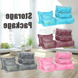 6PCS Travel Storage Bag Clothes Packing Luggage Organizer Ca