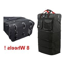 "8-wheels 36"" Rolling Wheeled Duffle Bag Spinner Suitcases Lu"