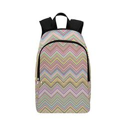 AIKENING Chevron Colorful Vintage Horizontal Casual Daypack