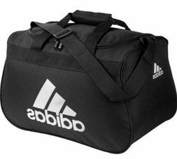 Adidas CORE Diablo Duffel SMALL Bag BLACK GRAY WHITE LOGO ZI
