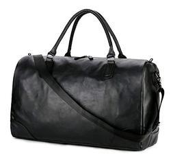 BAOSHA HB-06 PU Leather Travel Tote Bag Weekender Duffel Ove