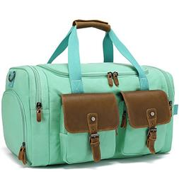 bbbe9685c3ed BLUBOON Weekender Duffle Bag Canvas Overnight Travel Duffel