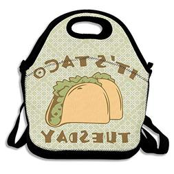 BjlkMLMLM It's Taco Tuesday Lunch Bag Large Reusable Lunch T