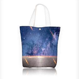 Canvas Beach Bags Simple atmospheric sky background Totes fo