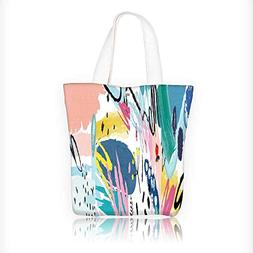 Canvas Beach Bags header with doodles on a white background