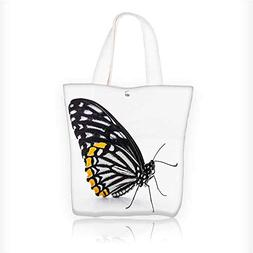 Canvas Shoulder Hand Bag A white butterfly picture Tote Bag