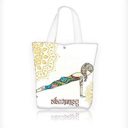 Canvas Shoulder Hand Bag Yoga Tote Bag for Women Large Work