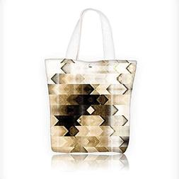 Canvas Tote Bag Artistic Geometric Tiles in Triangle Cool Mo