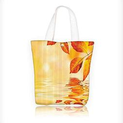 Canvas Tote Bag Autumn Maple Leaves Shadow The Water With My