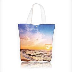 Canvas Tote Bag Scenic view of beautiful sunrise above the s
