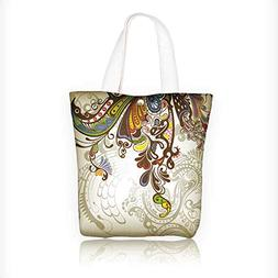 Canvas Tote Handbag Vintage luxury background with abstract