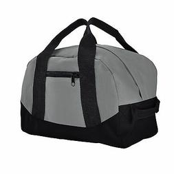 "DALIX 12"" Gray Duffel Bag Equipment Gym Sack Sports Travel S"