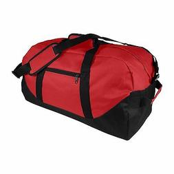 "DALIX 21"" Duffle Bag Two-Toned Sports Gym Travel Bag in Red"