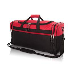 """DALIX 25"""" Extra Large Vacation Travel Duffle Bag in Red and"""