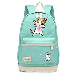 Dab Unicorn Cartoon Backpack Shoulder Travel Bag