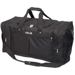 Duffle Luggage Travel Gear Bag Everest Extra Large Black One