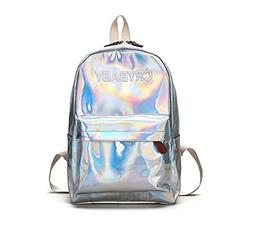 Embroidery Letters Crybaby Hologram Laser Backpack Women Sof