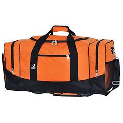 Everest Sporty Travel Duffel Bag, Orange
