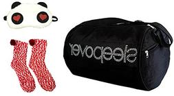 Enchantly Girls Duffle Bag with Eye Mask, Slippers for Age 5
