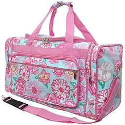 "Floral Print NGIL Canvas Carry on Shoulder 23"" Duffle Bag"