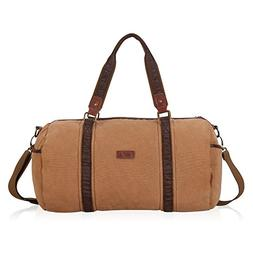 Hynes Eagle Multipurpose Canvas Duffle Bag 30L Brown